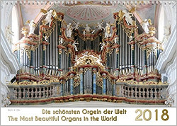 worlds most beautiful organs calendar 2018